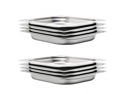Gastronádoby 8 ks GN 1/2 40 mm nerezová ocel