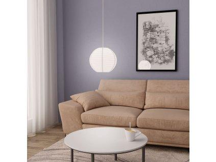 Závěsné svítidlo bílé Ø 30 cm E27