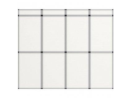 12dílný plakátový rám nástěnný 242 x 200 cm bílý