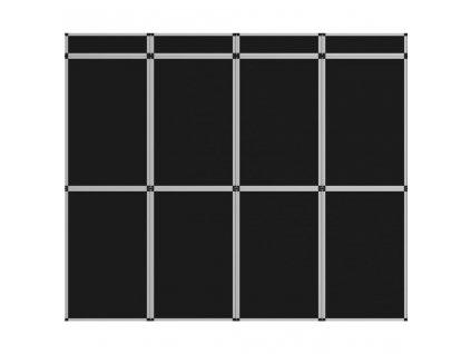 12dílný plakátový rám nástěnný 242 x 200 cm černý