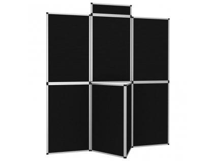 8dílný skládací plakátový rám se stolkem 181 x 200 cm černý