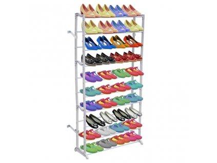 Stojan na obuv / botník - 10 patrový - 40 párů bot