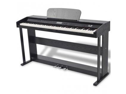 88klávesové digitální piano s pedály černá melaminová deska