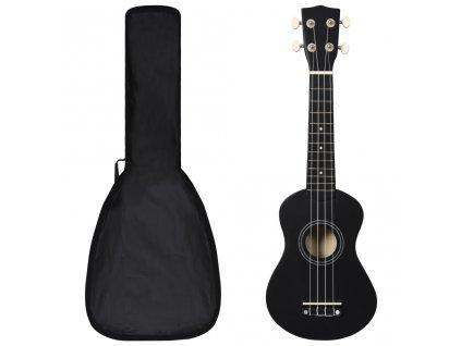 """Set soprano ukulele s obalem pro děti černé 21"""""""