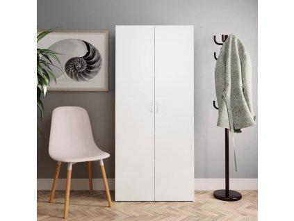 Botník bílý 80 x 35,5 x 180 cm dřevotříska