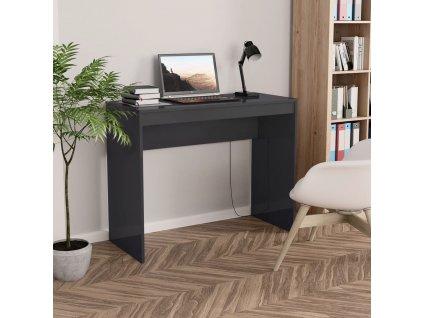Psací stůl šedý s vysokým leskem 90 x 40 x 72 cm dřevotříska