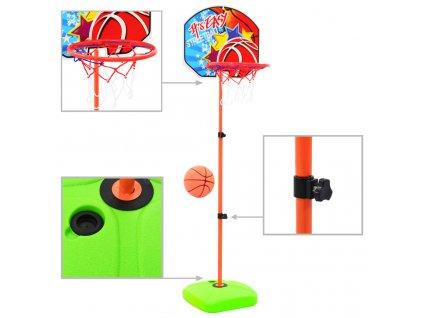 Dětský basketbalový koš s míčem