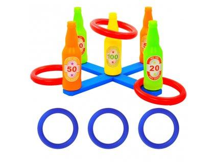 Dětská herní sada házení kroužků 42 x 42 x 23,5 cm