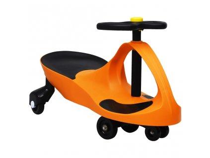 Dětské vozítko a odrážedlo SwingCar s klaksonem oranžové