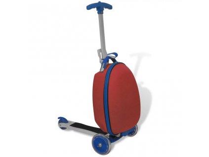 Koloběžka s kufříkem pro děti červená