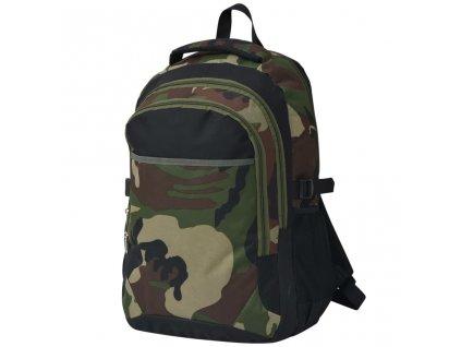 Školní batoh 40 l černý a maskáčový