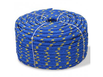 Námořní lodní lano, polypropylen, 6 mm, 100 m, modrá