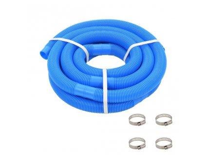 Bazénová hadice se svorkami modrá 38 mm 6 m