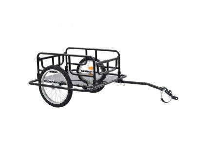 Přívěsný vozík za kolo 130 x 73 x 48,5 cm ocel černý