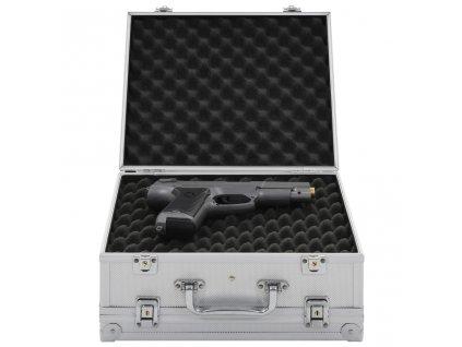 Kufr na zbraň hliník ABS stříbrný