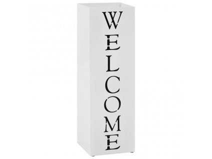 Stojan na deštníky Welcome ocelový bílý