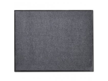 Šedá PVC rohožka 90 x 60 cm