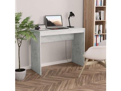 Psací stůl betonově šedý 90 x 40 x 72 cm dřevotříska