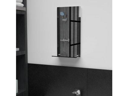 Nástěnné zrcadlo s policí 20 x 40 cm tvrzené sklo