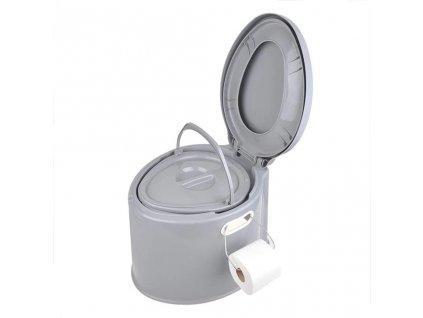 ProPlus Přenosné WC 7 l šedé