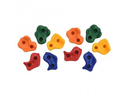 Lezecké chyty 10 ks vícebarevné PE