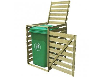 Přístřešek na jednu popelnici 240 l impregnované dřevo