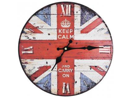 Vintage nástěnné hodiny 30 cm UK design