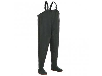 Brodící kalhoty s holínkami zelené velikost 41