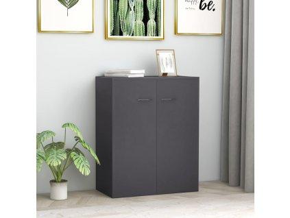 Příborník šedý 60 x 30 x 75 cm dřevotříska