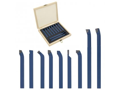 11dílné karbidové nože pro soustruh 8 x 8 mm P30