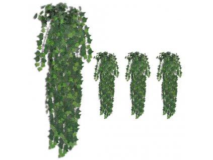 Umělé břečťanové trsy 4 ks zelené 90 cm