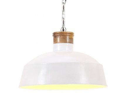 Industriální závěsné svítidlo 42 cm bílé E27