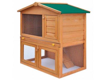 Zahradní králikárna/domek pro drobná zvířata 3 dvířka dřevěná