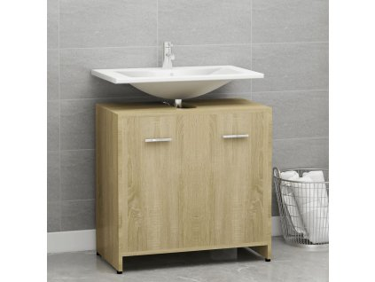 Koupelnová skříňka dub sonoma 60 x 33 x 58 cm dřevotříska