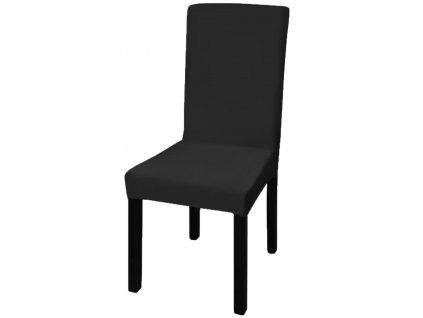 6 ks Elastické potahy na židle černé