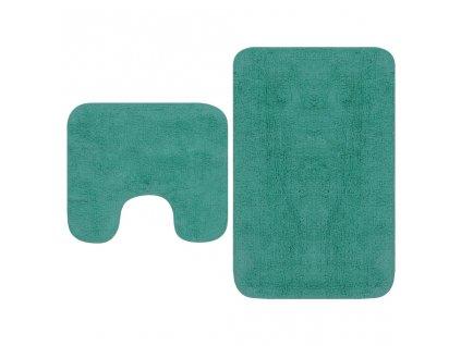 Sada koupelnových předložek 2 kusy textilní tyrkysová