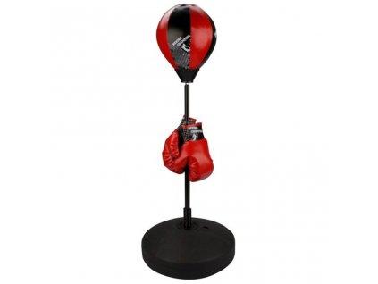 Sada s boxovací hruškou Avento 41BE Junior Reflexní červeno-černá