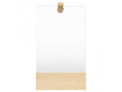 Nástěnné zrcadlo masivní borovice 23 x 39,5 cm