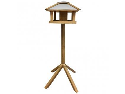 Esschert Design Krmítko pro ptáky čtvercové ocelová stříška FB433
