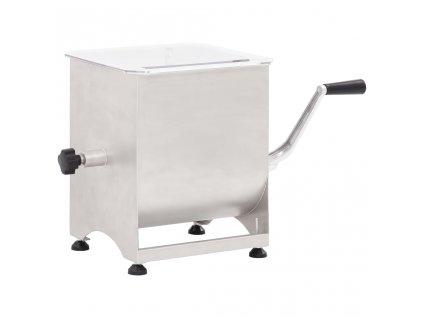 Míchačka masa s převodovkou stříbrná nerezová ocel