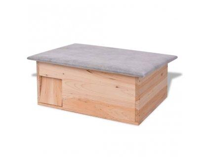 Domek pro ježka 45 x 33 x 22 cm dřevěný