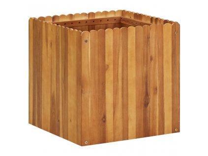 Zahradní vyvýšený záhon 50 x 50 x 50 cm masivní akáciové dřevo