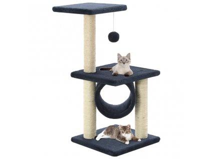Škrabadlo pro kočky se sisalovými sloupky 65 cm tmavě modré