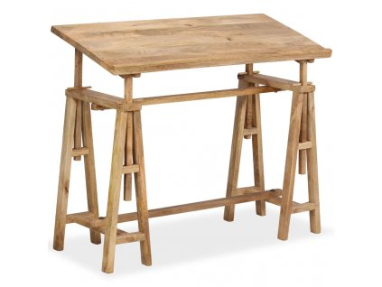 Kreslicí/rýsovací stůl z masivního mangovníku 116 x 50 x 76 cm
