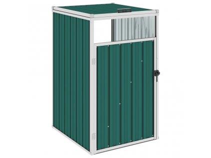 Přístřešek na popelnici zelený 72 x 81 x 121 cm ocel