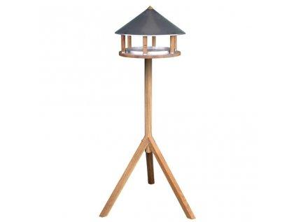Esschert Design Krmítko pro ptáky špičatá zinková střecha FB431