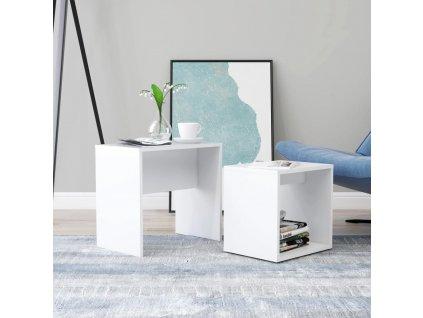 Set konferenčních stolků bílý 48 x 30 x 45 cm dřevotříska