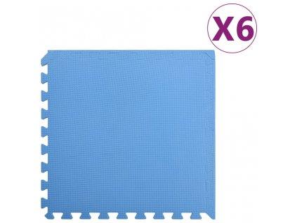 Podložky na cvičení 6 ks 2,16 ㎡ EVA pěna modrá