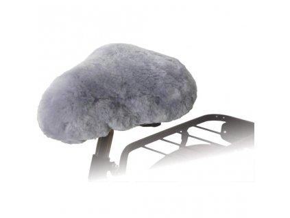 Willex Potah na cyklo sedlo ovčí kůže šedý 30135