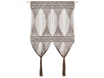 Macramé závěs taupe 140 x 240 cm bavlna